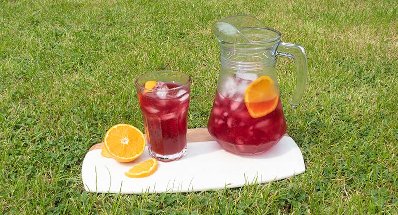 Hibiscus Orange Iced Tea